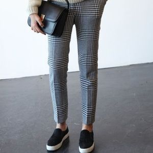 F21 plaid trousers NWOT